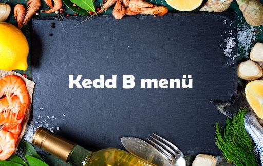 Kedd B Menü