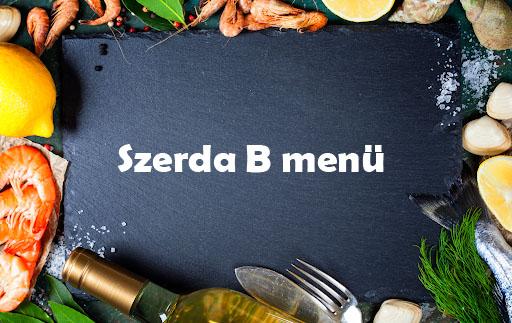 Szerda B Menü