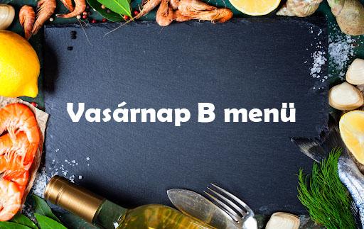 Vasárnap B Menü